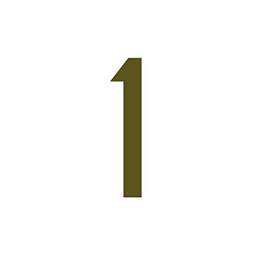 Zahlenaufkleber, Gold, 10cm (100mm) hoch, Aufkleber mit Zahlen in vielen Farben + Höhen, wetterfest