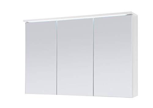 Froschkönig24 Two Spiegelschrank Badschrank Weiß 100 cm