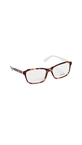 Prada 0PR 01VV Monturas de gafas, Pink Havana/Top Bordeaux/Ivory, 55 para Mujer
