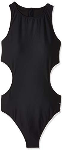 Calvin Klein Damen Zip Back Cut Out ONE Piece-RP Badeanzug, Schwarz (Pvh Black 094), 40 (Herstellergröße: L)