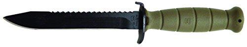 """Glock–Cuchillo de Campo de 6,5\"""", Campo de Batalla de Sierra de Hoja Fija con raíz Verde"""
