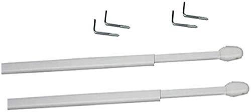 TRINGLES OVALES pour VITRAGE | 10x5 | 4 Supports Adhésifs Plastique | Blanc