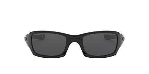 Oakley - Gafas de sol Rectangulares OO9238-04 para hombre, Polished Black/Grey (S3)