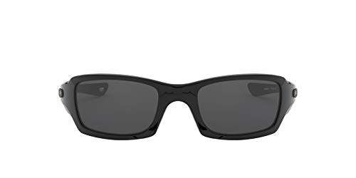 Oakley - Gafas de sol Rectangulares OO9238-04 para hombre, Polished Black/Grey (S3)