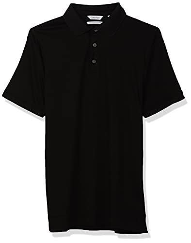 Calvin Klein Liquid Touch Polo para Hombre, Negro, Large