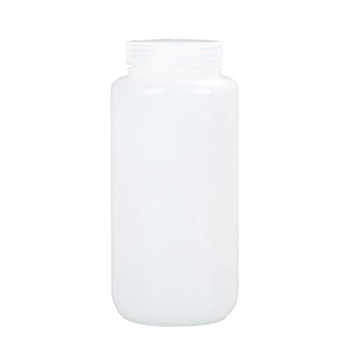 TOPBATHY 1000 Ml Vide Potable Clair HDPE en Plastique Médecine Pilule Bouteille Conteneur Cosmétique Bouteille avec Couvercle pour Comprimé Comprimé Échantillon D'eau Liquide