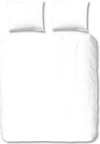 HIP Mako Satin Bettwäsche 2 teilig Bettbezug 140 x 200/220 cm Kopfkissenbezug 60 x 70 cm Uni 0280.00.01 White