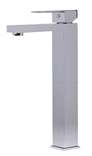 Alfi Marca AB1129 grifo de baño de una sola palanca de cromo pulido, alto 12 5/8 pulgadas x ancho 1 x profundidad 5 1/4 pulgadas
