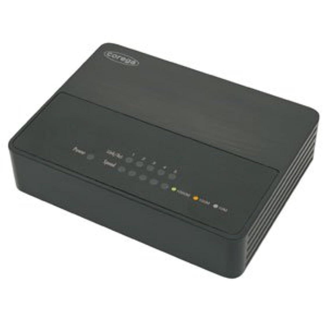 モジュール腰お気に入りコレガ(アライドテレシス) CGSW05GTPLXB5ポートGigaスイッチングハブしっかり節電機能JumboFrame対応ブラック CG-SW05GTPLXB