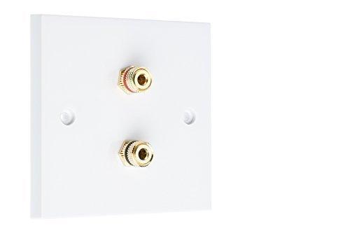 2 Post Surround Sound Speaker Piastra da Muro con Oro Morsetti No Saldatura Richiesto