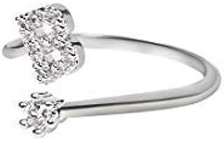 The Bling Stores Letter Alphabet Rings for Women Girls, Adjustable Initial Ring, A-Z Silver Rings Women Ring Engagement Ri...