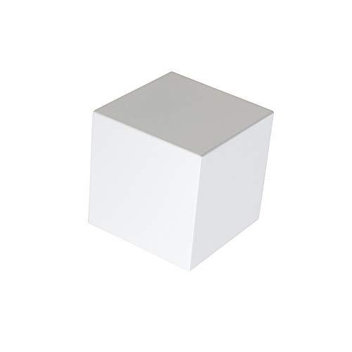 QAZQA Design Applique Murale moderne blanc - Cube Aluminium Blanc Cube G9 Max. 1 x 40 Watt/Luminaire/Lumiere/Éclairage/intérieur/Salon/Cuisine