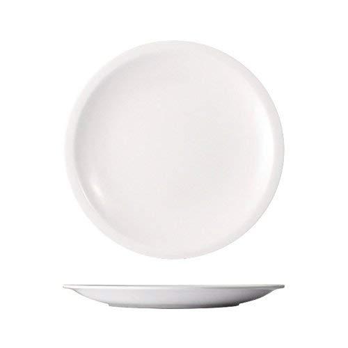 Cartaffini - 6 Piatti Frutta Leggeri in melamina, Ø 19,2 cm, Colore: Bianco Ottico