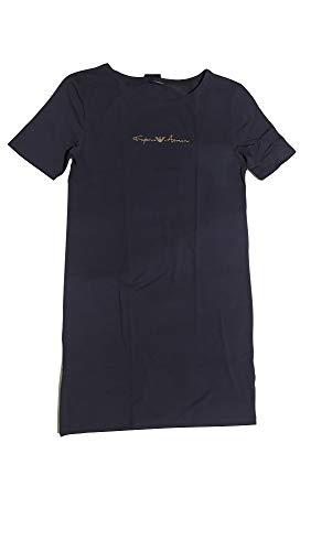 Emporio Armani Underwear Night Dress Basic Cotton Nightgown, Marine, L para Mujer