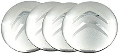 Tapacubos de 4 Piezas 56mm para Citroen C2 C3 C4 C4l C5 Saxo Xsara Picasso Elysee Berlingo, La Tapas Centrales de Rueda de Alta Calidad Protegen el Buje de La Suciedad Accesorios de auto