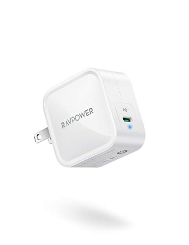 USB C Charger,RAVPower 61W PD Charger[GaN Tech] Fast Charging Type C Wall Charger Foldable Adapter, Compatible with iPhone 12 Mini Pro Max MacBook Pro Air, iPad Pro 2020 Nintendo iPhone SE 11 Pro Max