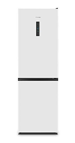Hisense RB390N4BW2 - Frigorífico Combi No Frost, Capacidad Neta 300 L, 186 cm Alto, Compresor Inverter, Eco Mode, Silencioso 38 dBA, Color Blanco