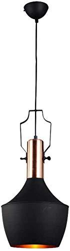 Vintage Industriële Zwarte Hanglamp, Retro Bar Hanglamp, Eetkamerlamp, Ronde Antieke Aluminium Eettafel Licht, Romantische Decoratie Verlichting Verlichting, Hoogte Verstelbare Lamp (D)