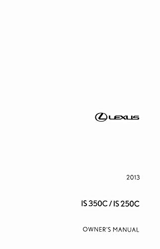bishko automotive literature Owners Manual User Guide for The 2013 Lexus is 350C is 250C