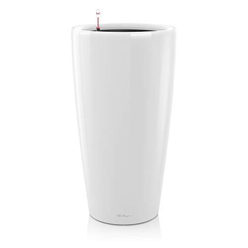 LECHUZA RONDO Premium 40, Weiß hochglanz, Hochwertiger Kunststoff, Inkl. Bewässerungssystem, Herausnehmbarer Pflanzeinsatz, Für Innen- und Außenbereich, 15740