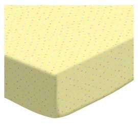 SheetWorld Fitted Pack N Play (Graco Square Playard) Sheet - Pastel Colorful Pindots Yellow Woven - Made In USA
