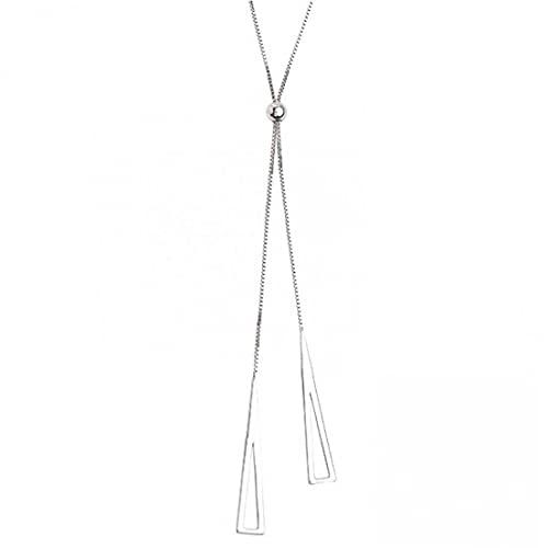 PiniceCore 925 Collar De Plata De Ley Geométrica del Triángulo De Mujeres Clavícula Ajustable Regalos De La Joyería Collar De Cadena
