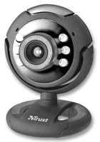 Trust Spotlight - Webcam (micrófono, USB 2.0, 1280 x 1024), Negro