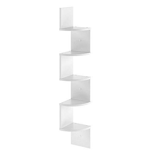 Vicco Étagère d'Angle Snake Étagère Suspendue étagère Murale bibliothèque Design (Blanc)
