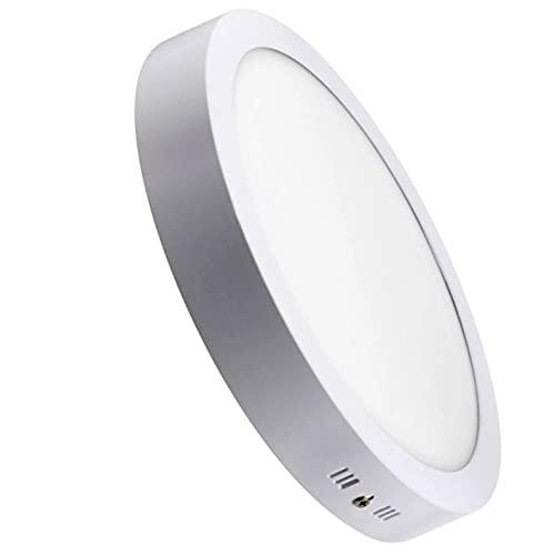 Pack 2x Plafon LED Redondo superficie 24w. Color Blanco Frío (6500K). 2200 lumenes. Diámetro 300mm. A++