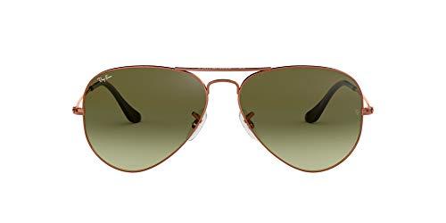 Ray-Ban Unisex-Erwachsene Aviator Sonnenbrille, Gold (Shiny Medium Bronze), 58