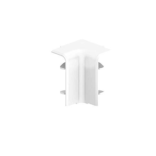 Habengut Innenecke für Sockelleiste 50 mm aus PVC, Farbe: Weiß | Inhalt: 1 Stück - zur Eckumfahrung in Räumen