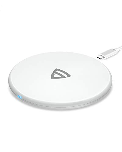 RAEGR Arc 400 Type-C PD Qi-Certified 10W/7.5W Wireless Charger with Fireproof ABS for iPhone 11/11Pro/11Pro Max/Xs/Xs MAX/XR/X/8/8+,Galaxy S20+/Note10/10+/S10/S10+/S10E/Note9/S9-White