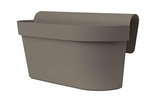 Euro 3 Plast Balkon-Hängekasten UP Cassetta, Taupe, 50 cm, 9 Liter