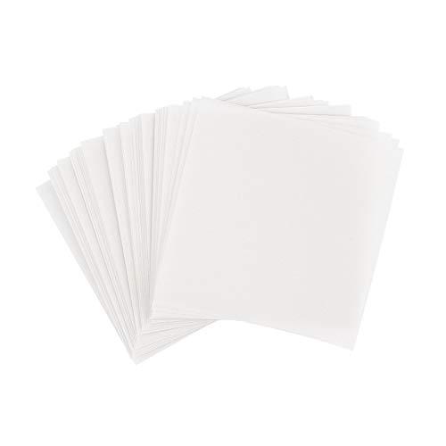 Ideen mit Herz Transparentpapier | 100 Blatt | quadratisch | Premium-Qualität | 110 g/qm | ideales Faltpapier zum Sterne basteln | transparentes Bastelpapier (weiß, 10 x 10 cm)