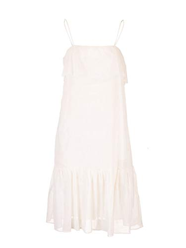 Miu Miu Luxury Fashion Damen MF37511V2LF0044 Weiss Baumwolle Kleid | Frühling Sommer 20