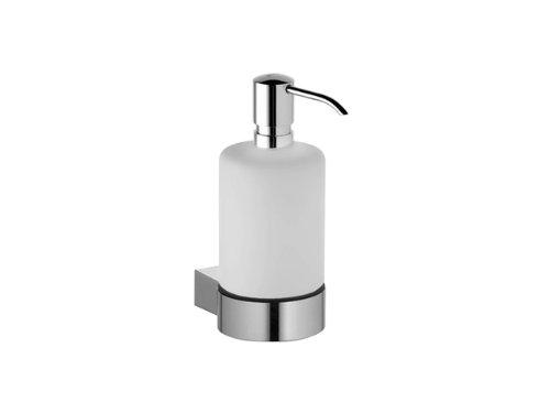 Keuco 14953019000 Plan Lotionsspender mit Pumpe verchromt Wandmodell Echtkristallglas mattiert