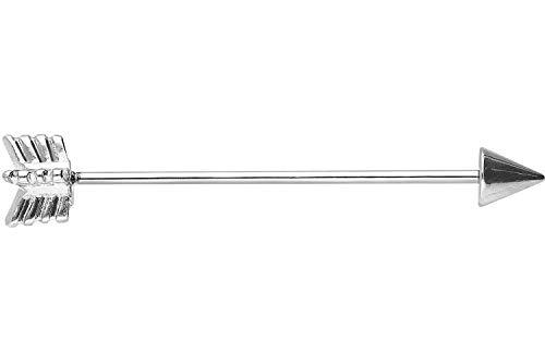 PIERCINGLINE® Piercing industrial en acero quirúrgico 1,2