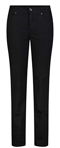 MAC Damen Straight Leg Jeanshose Melanie, Schwarz (Black- black D999), W44/L32