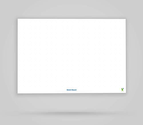 Vi-Tools - Vi-Board: Sketch Board - Whiteboard Poster - DIN A0 - beidseitig beschreib- & abwischbar, einroll- und wiederverwendbar; inklusive umfassenden Starter Kit