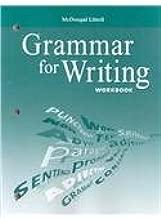 McDougal Littell Literature: Grammar for Writing Workbook Grade 8