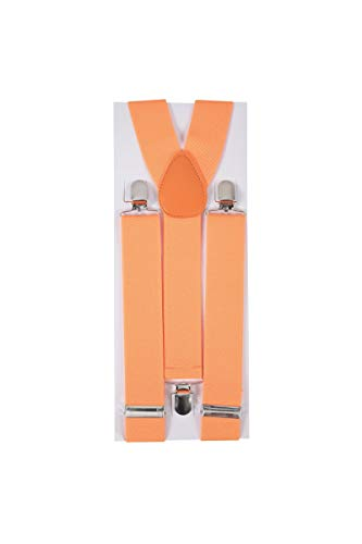 P'TIT CLOWN 56005 Bretelles - Largeur 3.5 cm - Orange Fluo