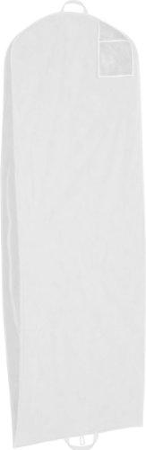 Am Laufsteg Brautkleid Schutzhülle/Kleidersack aus hochwertigem Vlies, 75 g/m², atmungsaktiv, extra groß auch für üppige Brautkleider, 200 x 70 x 20 cm, Reißverschluss, mit Tasche, Weiss
