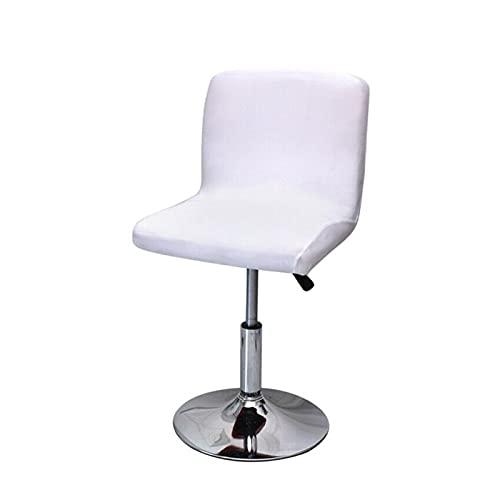 CHENGTAO Stołek barowy z niskim oparciem pokrowiec na krzesło barowe spandeks elastyczna obudowa na siedzenie do jadalni rozciągliwa obudowa na fotel biurowy (kolor: Biały)