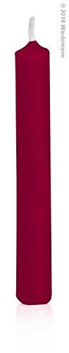 Bordeaux Baumkerzen, Christbaumkerzen durchgefärbt 96 x 13 mm, 20 Stück, Bordeaux, Weihnachten, deutsche Marken Kerzen Qualität