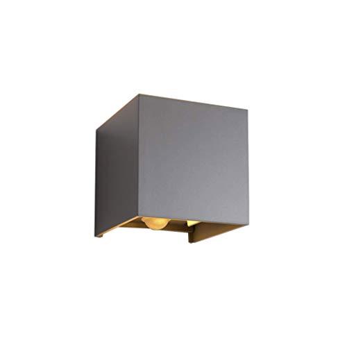 Klighten Cube Wandleuchte Wandleuchte mit Bewegungsmelder, Wasserdicht IP65 Einstellbarer Lichtstrahl Warmweiß Wandleuchte Innen/Aussen für Wohnzimmer Schlafzimmer Treppenhaus Flur,Dunkelgrau