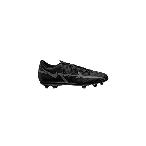 Nike Unisex Phantom GT2 Club FG/MG Soccer Shoe, Black/Iron Grey-Metallic Bomber Gry, 38.5 EU