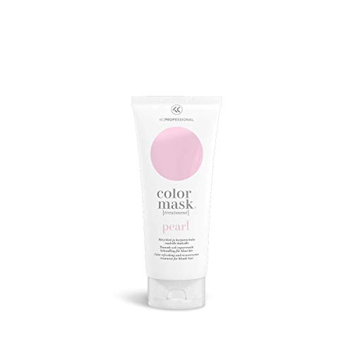 Color Mask Pearl - Toning Conditioner for Pearl Blonde Hair - Purple Conditioner for Brassy Hair - Reconstructive Treatment for Blonde Color Treated Hair 6.76 oz - KC Professional