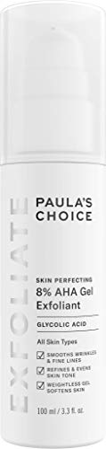 Paula's Choice SKIN PERFECTING 8% AHA Gel Exfoliant with Glycolic Acid Chamomile & Green Tea, 3.3 Ounce Pump Leave-On Gentle Exfoliator