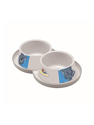 I LOVE MY CAT 005071 Riga - Ciotola per Alimenti Contro Le formiche, 2 x 350 ml