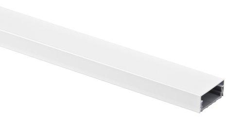 Aluminium kabelgoot wit hoekig 115x5 cm voor TV HiFi Computer lampen aluminium afdekking LED, plasma of LCD TV